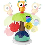 REMOKING Suction Base High Chair Interactive Rattle Toy, Swingable Owl with Baby Rattle,Developmental Tray Toy for Early…
