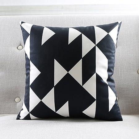 Cuscini Divano Bianco E Nero.Wofull Bianco E Nero Nordic Geometrico A Righe Divano Cuscino