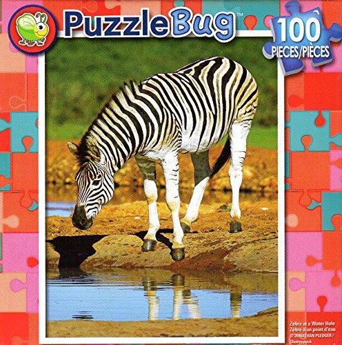 Zebra at - a Water Zebra Hole - B079T1WD5P PuzzleBug - 100 Piece Jigsaw Puzzle B079T1WD5P, きもの和總:20946947 --- ero-shop-kupidon.ru
