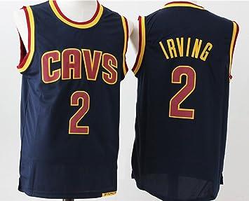 Para hombre CLEVELAND CAVALIERS Kyrie Irving # 2 baloncesto Jersey, XL, Azul marino