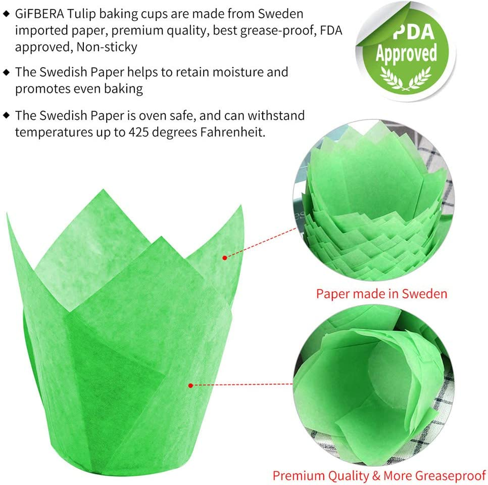 Moldes de papel para magdalenas color naranja Green antigrasa, 100 unidades Gifbera Swedish Paper