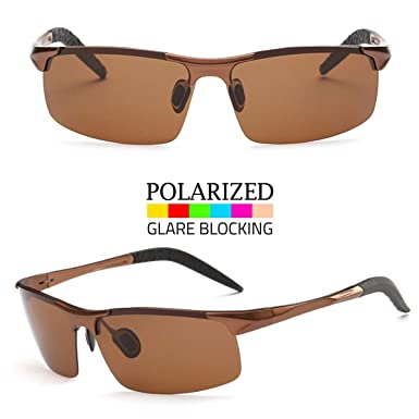 752b56d24a Image Unavailable. Image not available for. Color  Men s Aluminium Polarized  Hd Vision Sunglasses Driving Outdoor Fishing Eye