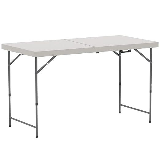 Casa de descuento® mesa plegable 4 ft Heavy Duty extra fuerza ...