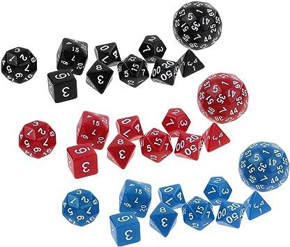 IPOTCH 30x Juego De Dados para Jugar Juegos De Mazmorras Y Dragones DND RPG MTG Juego De Mesa para Beber Suministros: Amazon.es: Juguetes y juegos