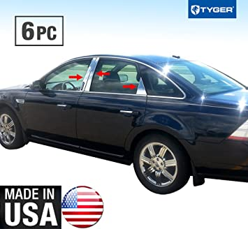 Made in USA Works with 2005-2009 Buick Lacrosse 8 PC Stainless Steel Chrome Pillar Post Trim