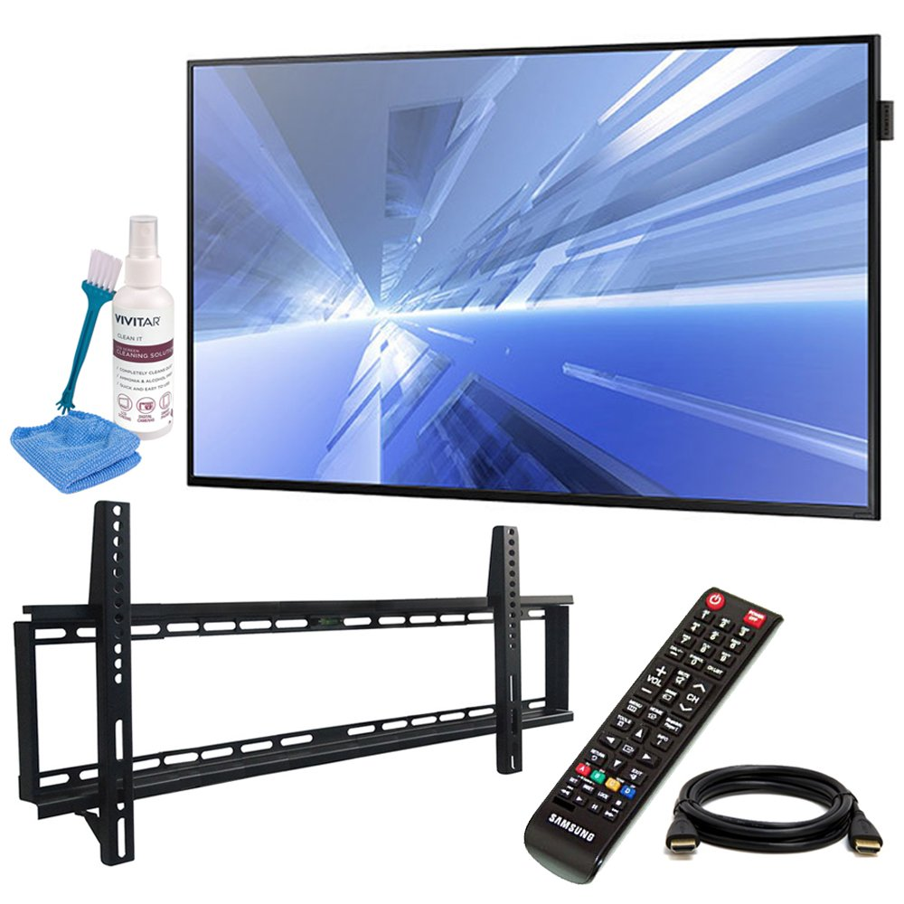 Samsung (DB40E) 40'' Slim Direct-Lit LED Display for Business with Pro Wall Mount Kit, 6ft HDMI Cable, and Cleaning Kit