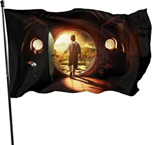 LHLYDFGG Hobbit Flag Decorative Outdoors Hanging Flags Home Garden and Holiday Yard Flag 3 x 5 Ft