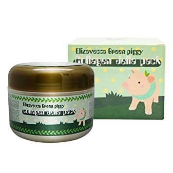 Elizavecca, Green Piggy, Collagen Jelly Pack, 3.53 oz(pack of 2) Laura Mercier - Smooth Finish Flawless Fluide # Dusk - 30ml/1oz