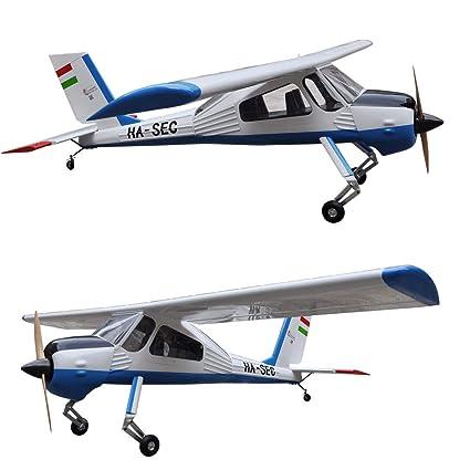 Amazon com: Balsa Wood PZL-104 Wilga 89inch Trainer Electric