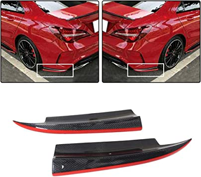 Carbon Fiber Add-on Rear Bumper Splitter Lip Mercedes-BENZ W117 C117 CLA-Class