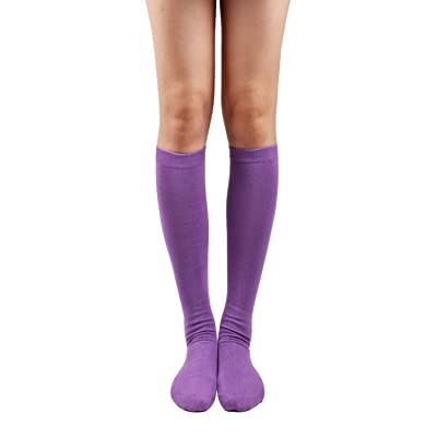 10STAR11 Women's Colorful Solid Sexy Knee High Socks