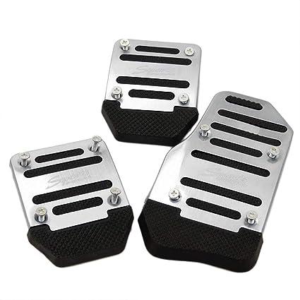 ToGames 3 piezas coche veh/ículo antideslizante aleaci/ón pedal pedal aluminio pie pedal cubierta reducir fatiga del pie seguro para conducir