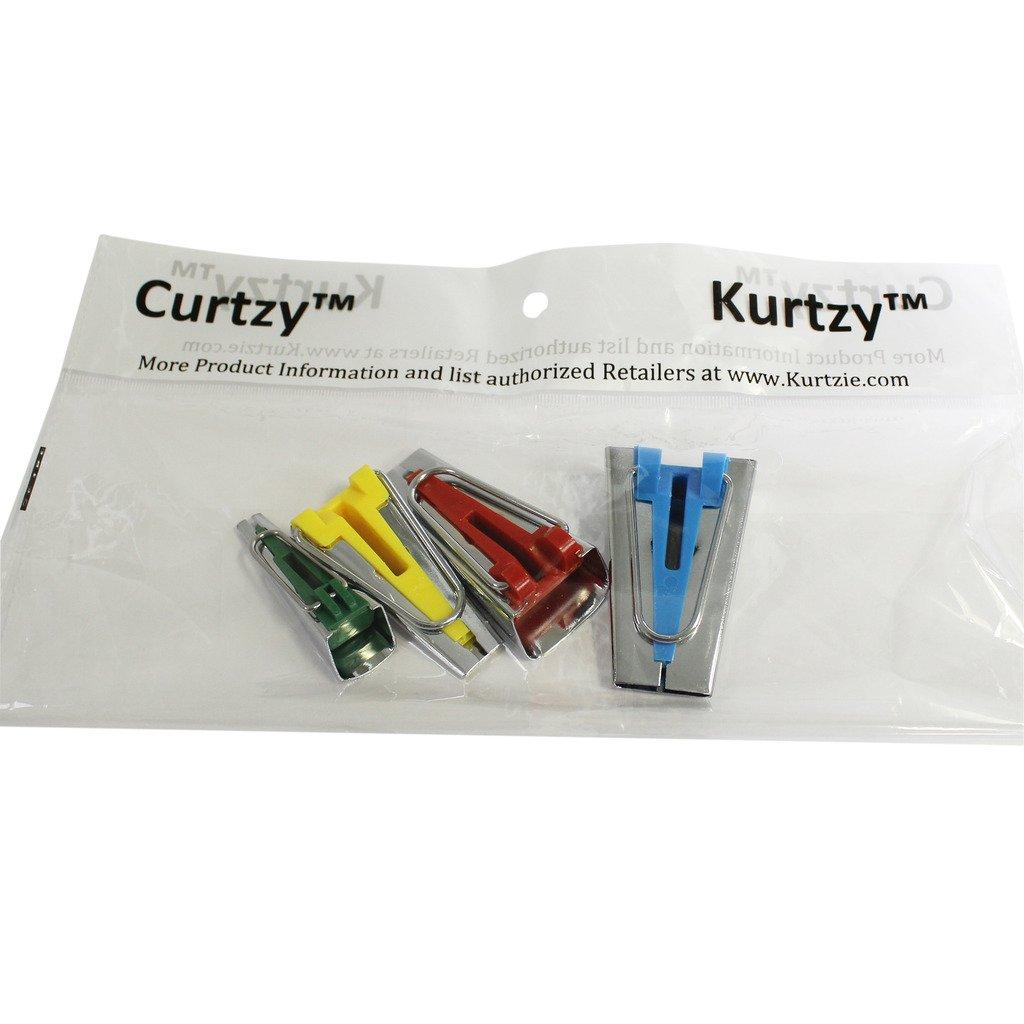 Set de 4 herramientas para crear cinta bies de 6, 12, 18 y 25 mm por Curtzy TM: Amazon.es: Juguetes y juegos