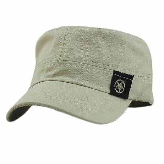 Funic Clearance Sale Fashion Men Womens Flat Roof Military Hat Cadet Patrol  Bush Hat Baseball f4da2beb45