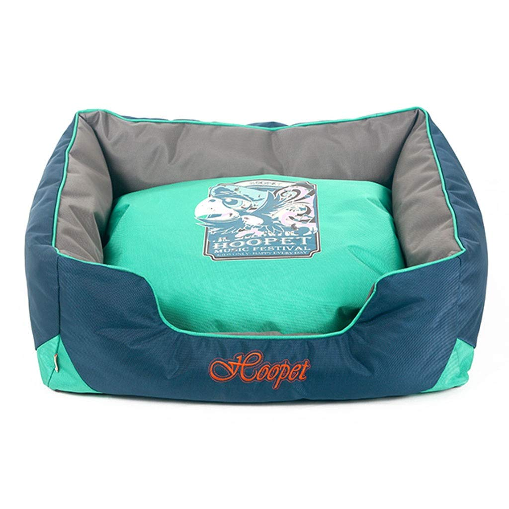 Green 605024cm Green 605024cm Square Non-Stick Pet Nest, Small and Medium Dog Teddy Cat Dog Bed, Detachable Pad Pet Supplies Pad (color   Green, Size   60  50  24cm)