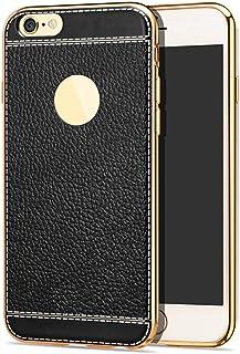 ERQINGT Etui pour Téléphone Portable Étui De Protection pour Iphone 6Plus 6Splus 6 6S Plus Le Téléphone en Cuir Souple avec Grain De Silicone Et Silicone