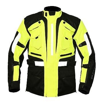 Chaqueta impermeable de moto textil R-Tech Cooper (XL, Negro/Amarillo fluorescente): Amazon.es: Coche y moto