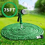 Ousoou Multifunction Expandable Garden Hose Durable Lightweight Expanding Tubing with Strongest Triple Core Latex & Polyester Fabric Covering