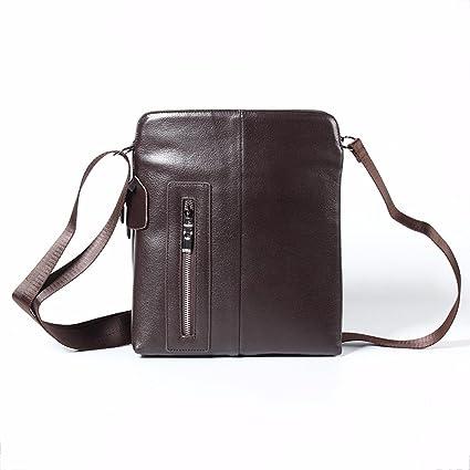 ff06963c3cd0 Surnoy Leather Shoulder Bag, 12 inch Vertical Casual Man, Zipper Soft face  Men's Satchel