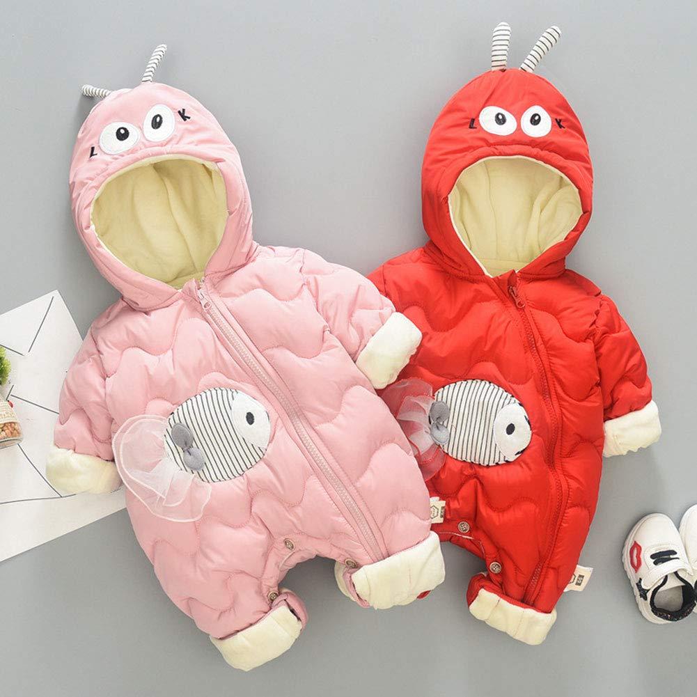 M/&A Baby Girls One Piece Snowsuit Winter Romper Fish Puffer Jumpsuit