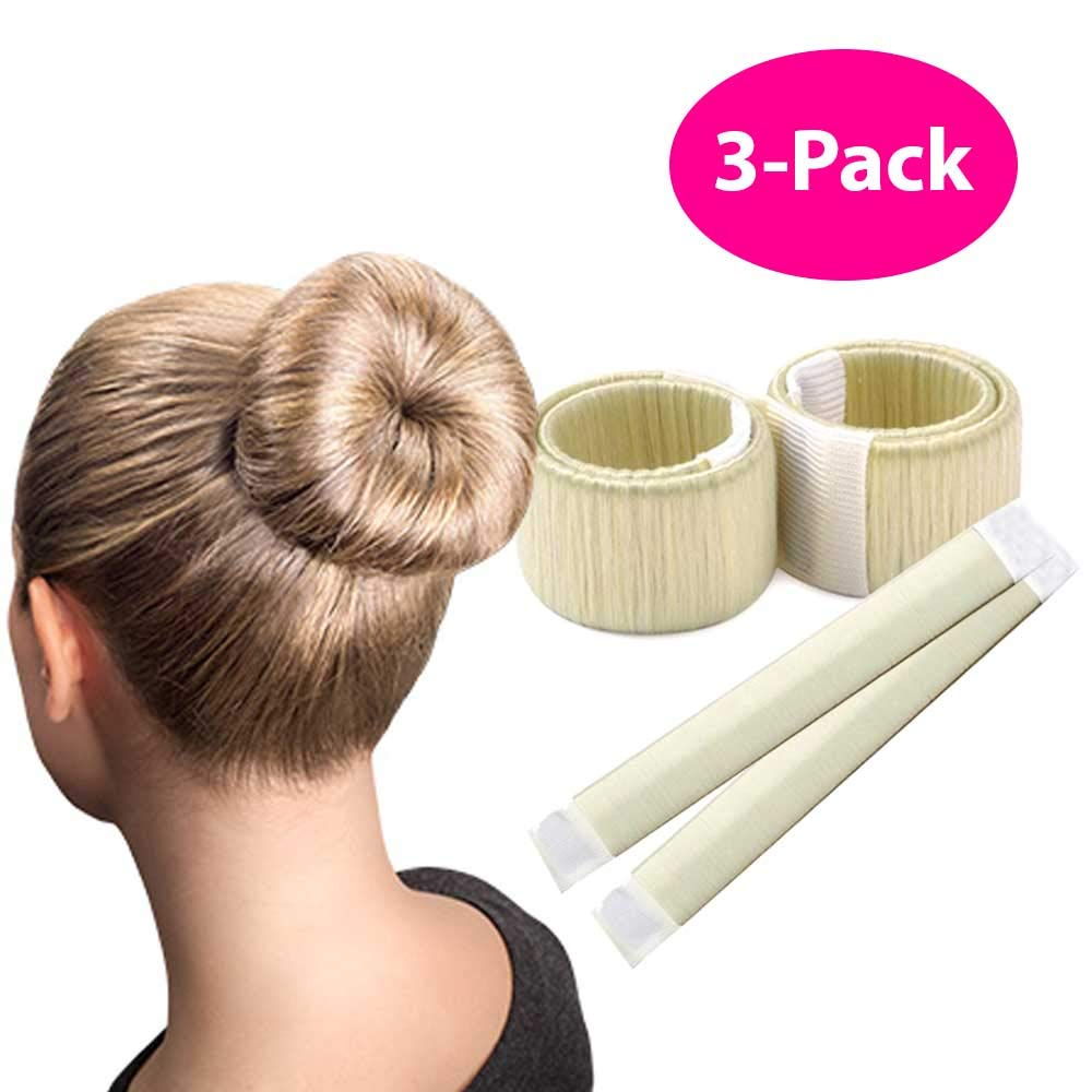 Blonde Magic Bun Maker / 3 PACK/Perfect Hair Bun Making Tool/Donut Bun DIY Hair Styling/Hair Bun Shaper/Ballet Hair Bun by HAWWWY