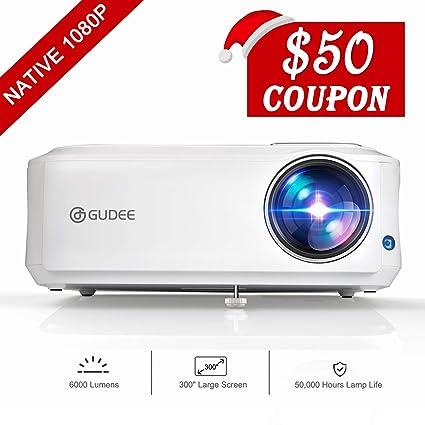 GuDee Proyector nativo 1080P, proyector de vídeo Full HD para ...