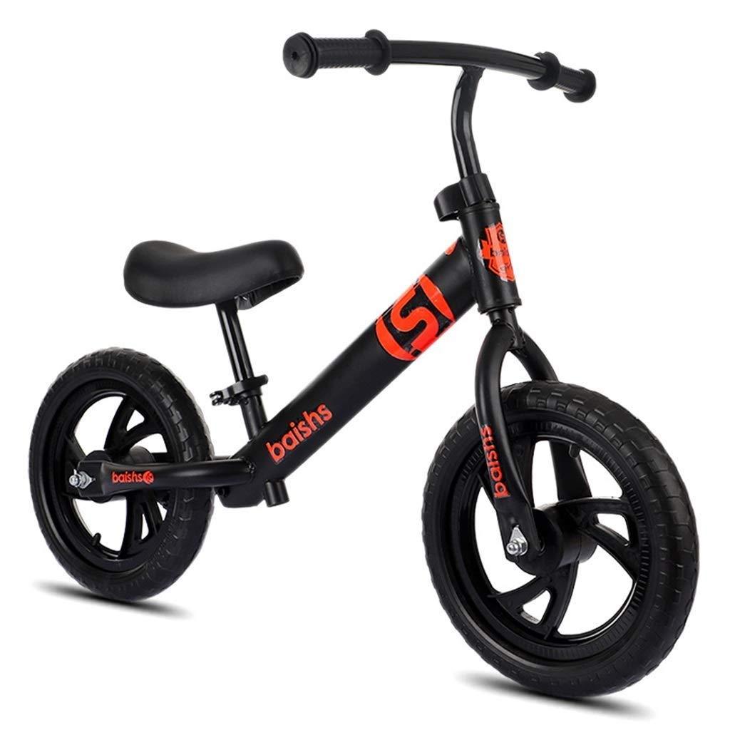 子供のためのスポーツのバランスのバイクは12インチの空気タイヤとの2-6年の老化しました - 小型金属の早いライダープッシュバイク、ペダルを動かしている自転車無し、歩くバランスのバイク、黒/青/赤/白/ZHAOFENGMING (Color : Black, Size : 12 inch) B07TBNR7ND Black 12 inch
