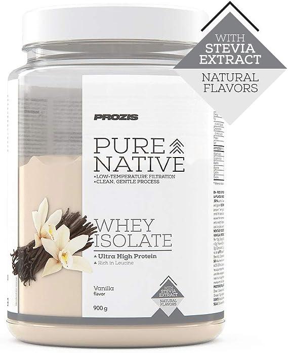 Prozis Natural Pure Native Whey Isolate 900 g Vainilla Proteína ...