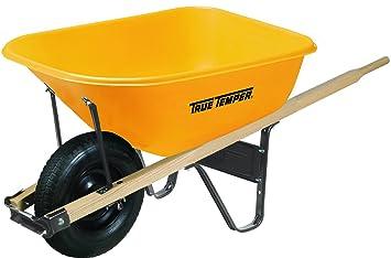 Amazon Com True Temper 6 Cubic Foot Poly Wheelbarrow Rp625