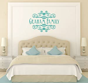 Personalized Family Name Wall Decals of Premium Vinyl Stickers for Home and Wall Decor | Custom Sizes and Colors Match The Theme of Any Bedroom, Family Room, Office, or Entryway