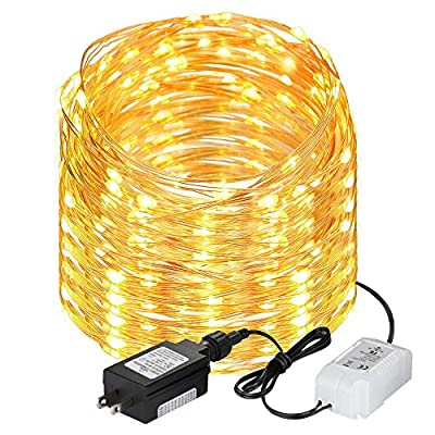 LE Bluetooth 200 LEDs String Lights, 65ft/20m, Waterproof, Copper Wire Starry Lights, Warm White, Home Garden Patio Party Christmas Tree Indoor Outdoor Decoration, UL Listed from Lighting EVER