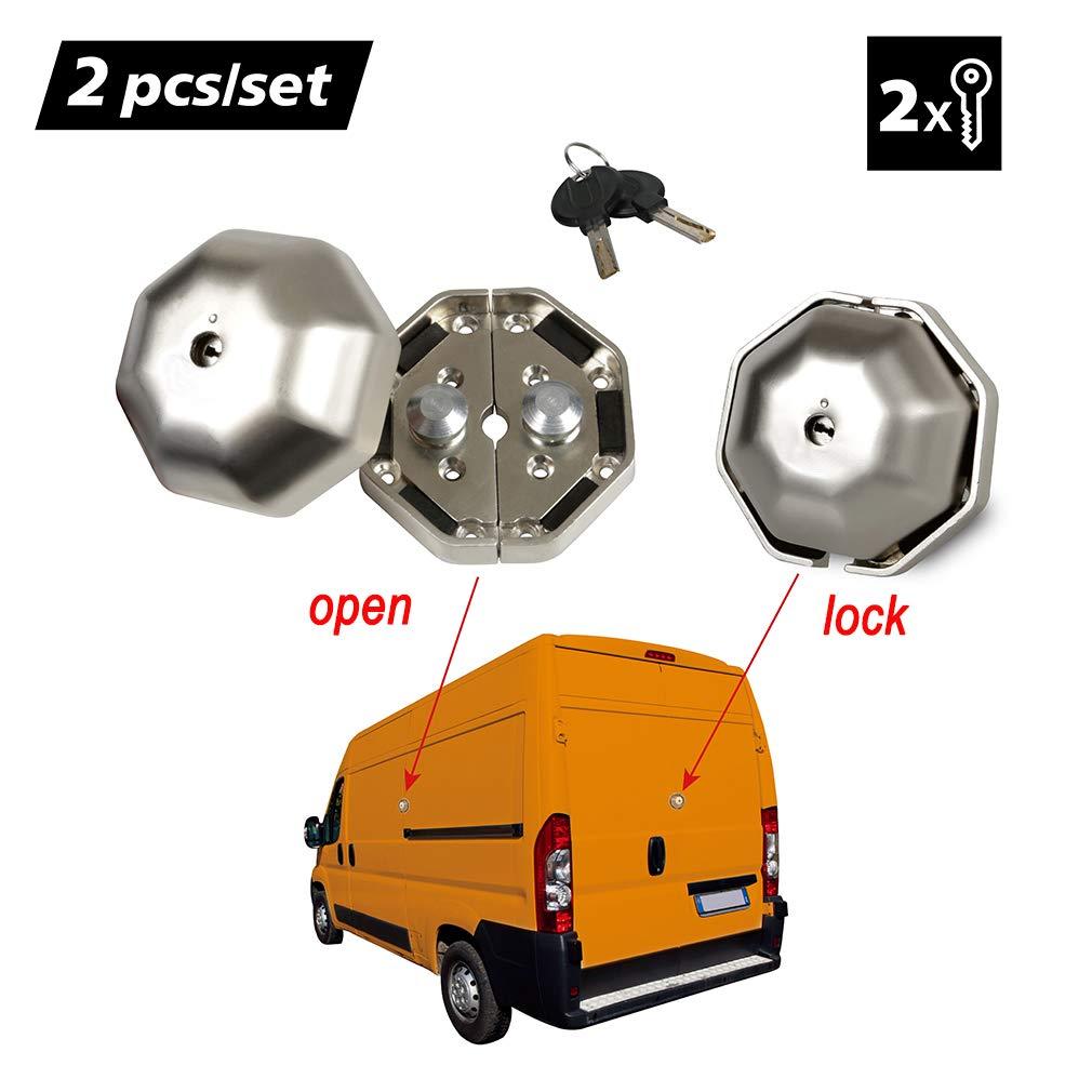 OKLEAD Heavy Duty Cargo Van Door Lock Van Garage Shed Door Exterior Security Device for Side and Rear Doors 2 PCs A Pair
