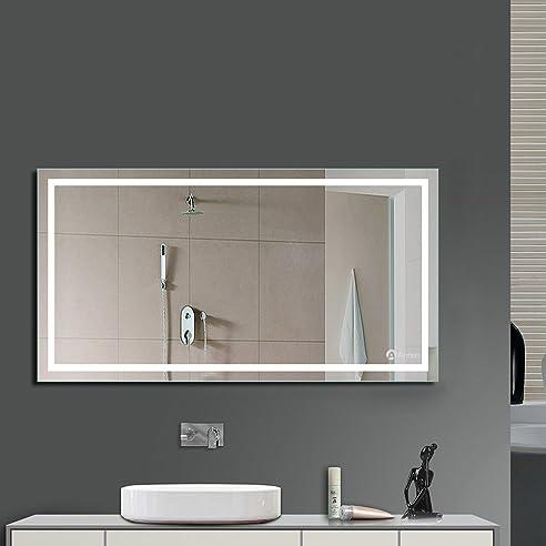 Badezimmer spiegelschrank beleuchtet  Anten Bad Spiegel für Schminktisch und Spiegelschrank Badspiegel ...