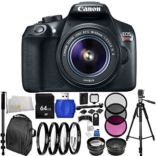 canon-eos-1300d-rebel-t6-dslr-camera-with-ef-s-18-55mm-f-35-56-is-ii-lens-64gb-bundle-28pc-accessory