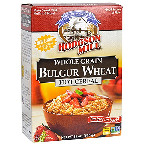 (Hodgson Mill Bulgur Wheat Hot Cereal, 18-Ounce Boxes (Pack of 6), Heart-Healthy Hot Breakfast Cereal for a Wholesome Start to Your Morning, Enjoy With Fresh Fruit, Honey or Other Toppings)