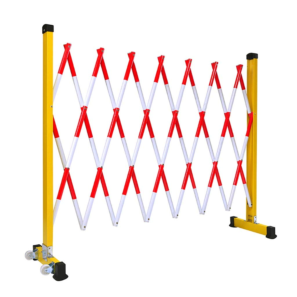 JF-Fencing Power Construction Telescopic Fence, Movable FRP Insulation Safety Isolation Fence, Height 120cm, 7 Kinds of Length. (Size : Length 350cm/137.8inch) by JF-Fencing