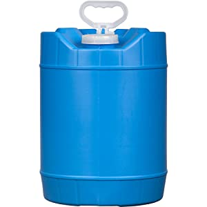 House Naturals 5 Gallon BPA Free Handled Container Bucket with Cap, HDPE Food Grade, Blue, Made in USA