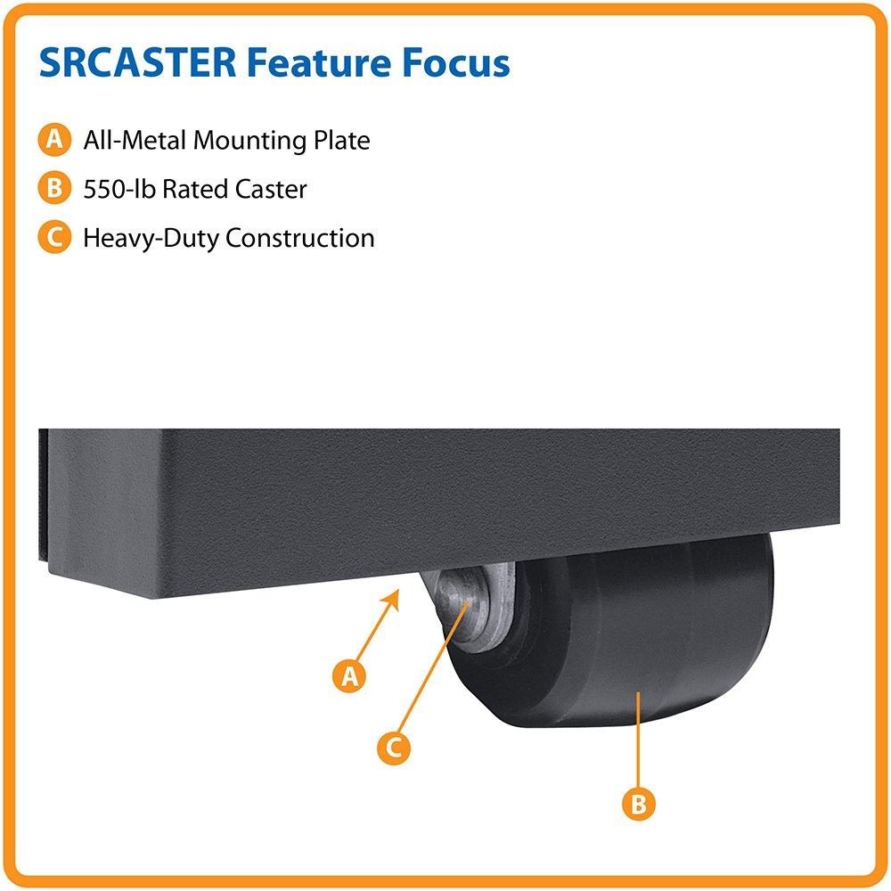 Tripp Lite SRCASTER Rack Enclosure Cabinet Heavy Duty Mobile Rolling Caster Kit