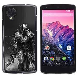 iBinBang / Funda Carcasa Cover Skin Case - Longsword Grey Character Pc - LG Google Nexus 5 D820 D821