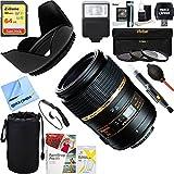 Tamron AF272NII700 90mm F/2.8 DI SP AF Macro 1:1 Lens For Nikon + 64GB Ultimate Filter & Flash Photography Bundle
