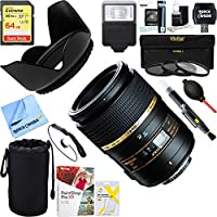 Tamron AF272NII700 90mm F/2.8 DI SP AF Macro 1:1 Lens For Nikon + 64GB Ultimate Filter & Flash Photography Bundle