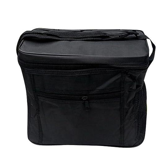 Sfit Sac Repas Isotherme Lunch Bag Portable Pliable pour Famille de Voyage Barbecue Camping Pique-nique (Noir) y62DS