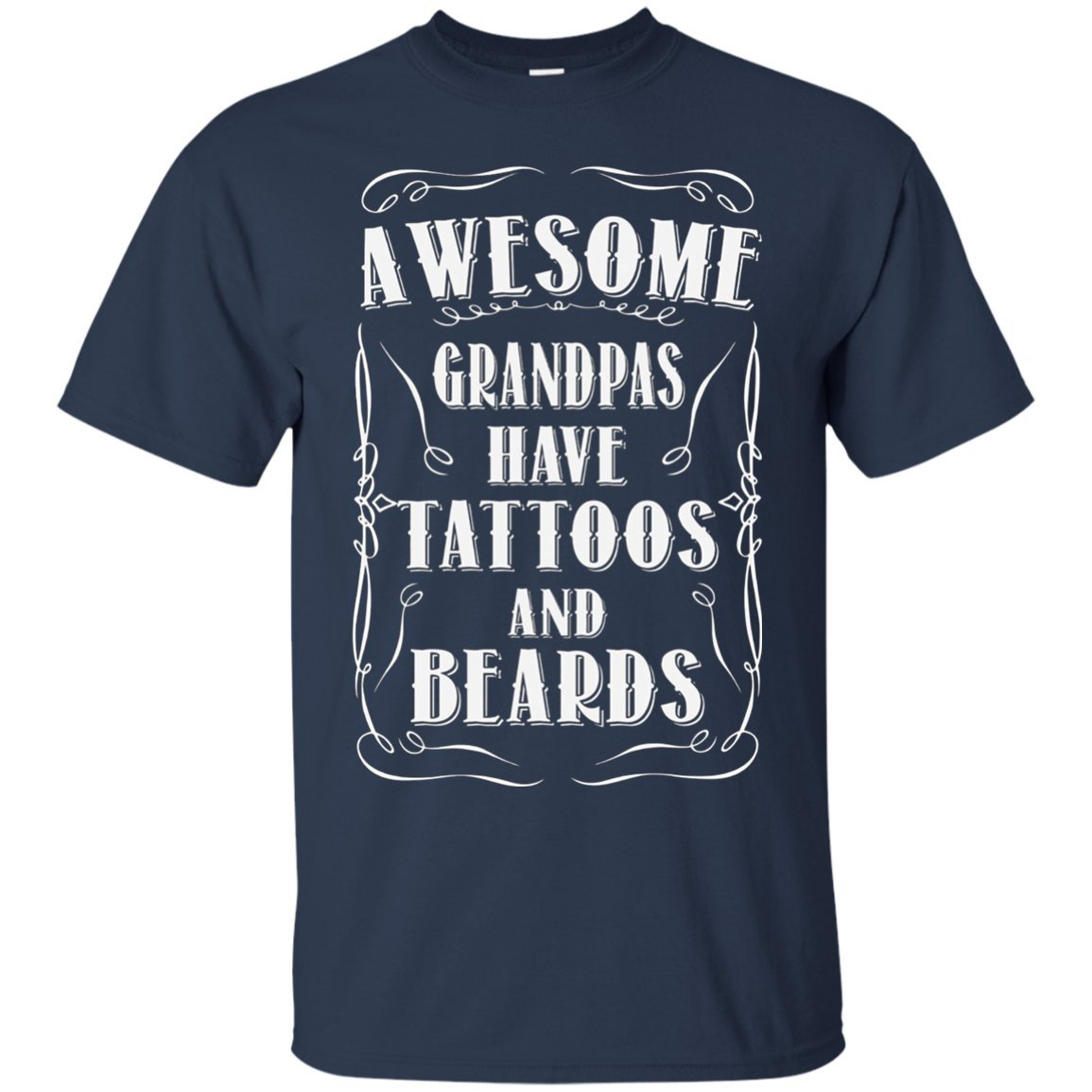 Awesome Grandpas Tattoos Beards Shirt Navym