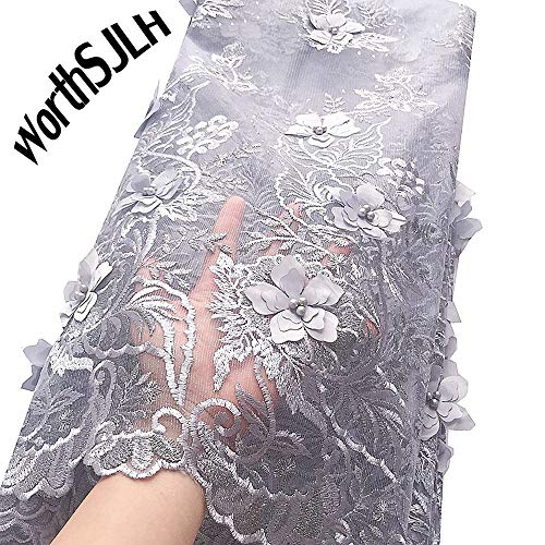 WorthSJLH Applique African Lace Fabric 3D Lace Material for sale  Delivered anywhere in Canada