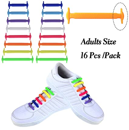 d5495fcfb126 Attmu No Tie Shoelaces for Kids and Adults - Best in Sports Fan Shoelaces –  Waterproof Silicon Flat Elastic Athletic Running Shoe Laces with Multicolor  for ...