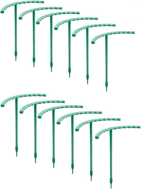Gentlecarin Plants Support Trellis 12 Pcs Garden Plant Support Stakes 5 5 Wide X 6 High Half Round Plant Support Ring Hoops Plants Trellis For Climbing Plant Pot Flower Tomato Kitchen Dining