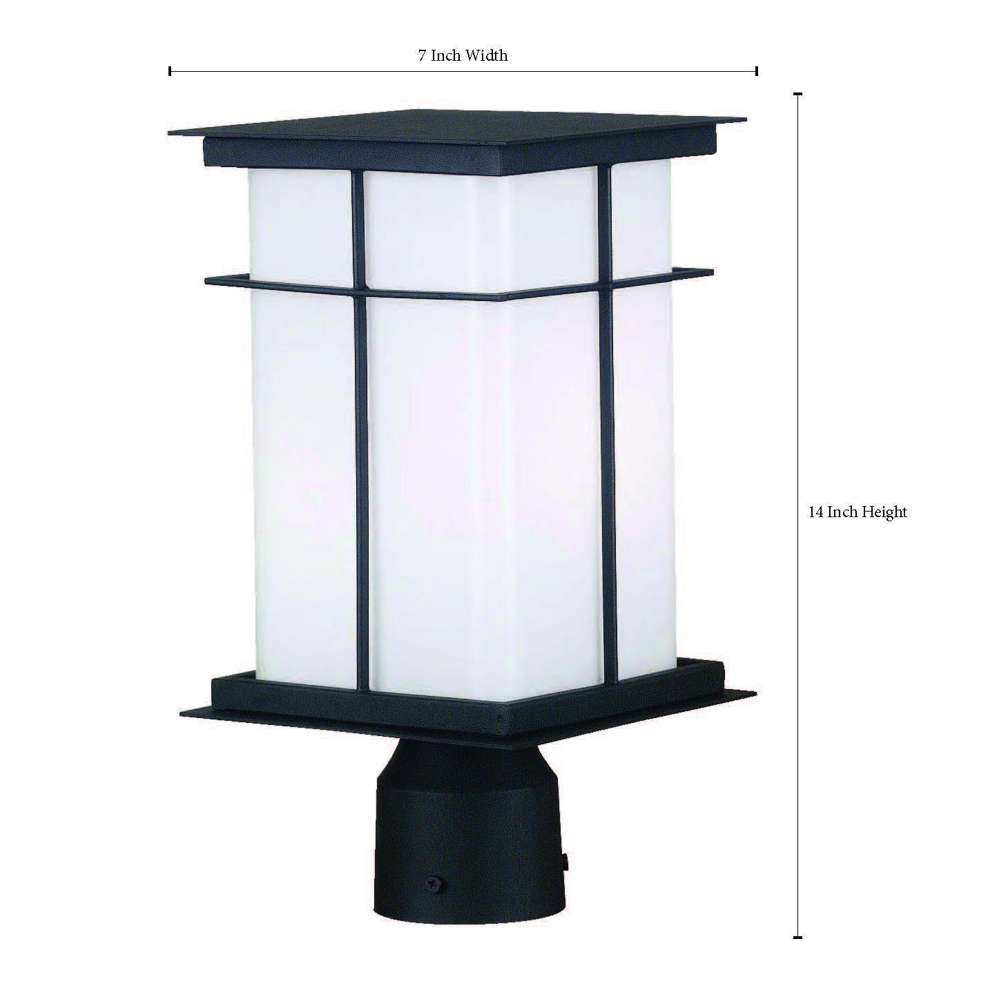 Kenroy Home 70003TB Mesa Medium Post Lantern with 6-Inch Shade