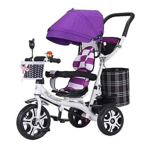 QDY-Cochecitos Moda Carrito de bebé Trike Marco de Acero de Carbono ...