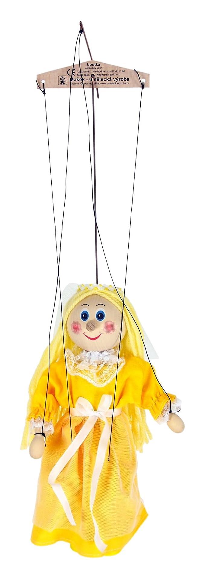 ABA 20cm en bois Boucles d'or Marionnette Jouet (Multicolore)