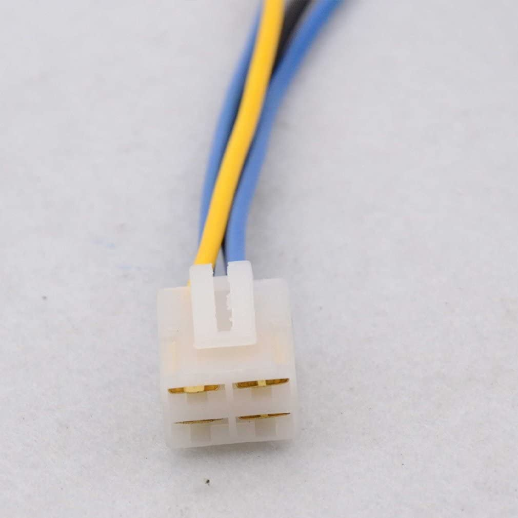 GOOFIT 4 Pin Connector Harness Adapter Cable with Clip for 4-pin Voltage Regulator